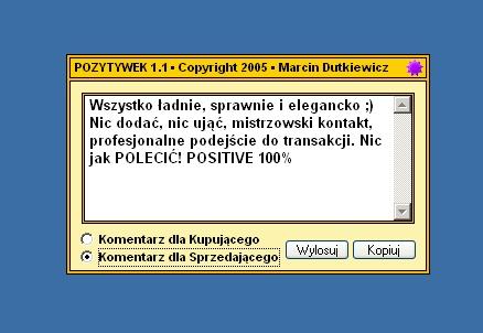Pozytywek Gotowe Komentarze Do Aukcji Allegro Pablik Pl Dziennik
